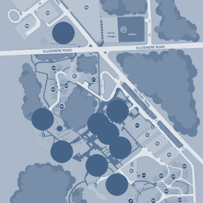 image of real-time usage map for Scarborough campus